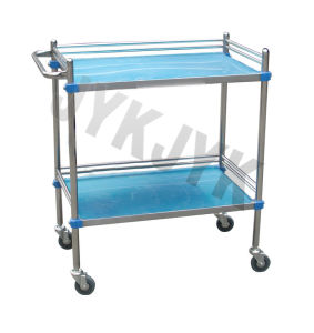 Medical S. S Treatment Trolley with Three Shelves pictures & photos