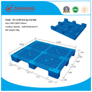1200*1000*140mm Grid Big Nine Feet Heavy Deck Rackable Plastic Pallet (ZG-1210B) pictures & photos