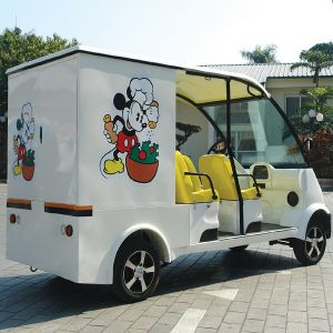 CE Approve Playground Electric Food Cart with 2 Seater (DU-F4) pictures & photos