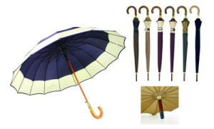Border Design Automatic/Straight Outdoor Umbrella for Audlt (YS-SA23083929R) pictures & photos