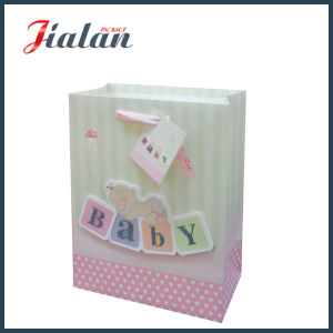 Customize Ivory Paper 3D & Glitter Baby Shopping Gift Paper Bag pictures & photos
