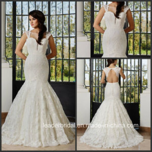 Cap Sleeves Lace Bridal Gowns Custom Made Full Lace Mermaid Wedding Dress G17286 pictures & photos