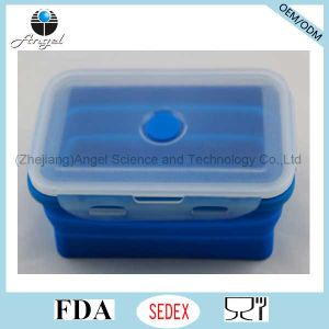 Collapsible Silicone Food Box Silicone Folding Lunch Box Sfb10 (800ML) pictures & photos