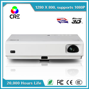 Short Focus Mini 3D DLP Cheap LED Projector with Android WiFi USB HDMI Bluetooth Television pictures & photos