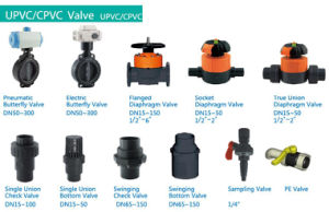 De20 De25 De32 DIN BSPT PVC Threaded Ball Valve pictures & photos