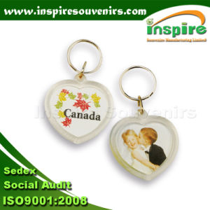 Fashion Acrylic Key Chain with Logo Printing pictures & photos