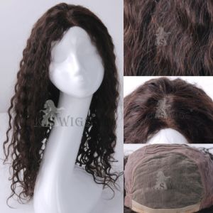 Top Grade Swiss Lace Indian Virgin Hair Lace Wig pictures & photos