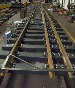 Railway Turnout with High Manganese Steel Frog pictures & photos