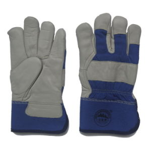 Cow Grain Leather Winter Working Warm Gloves pictures & photos