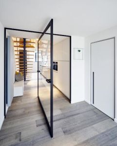 Topbright Good Quality Certer Aluminum Pivot Door Withtermpered Glass pictures & photos