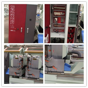CNC Aluminum Window Door Double Head Cutting Saw pictures & photos