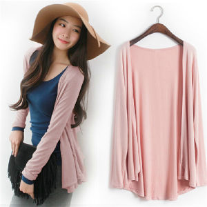 Stylish Womens Casual Long Sleeve Cardigan Very Thin Sweater Tops (50244-1) pictures & photos