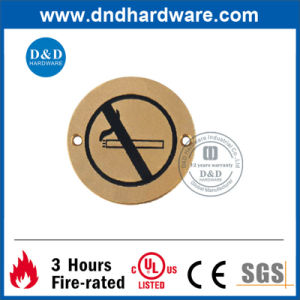 Stainless Steel No Smoking Sign Plate for Doors (DDSP008) pictures & photos