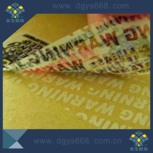 Tamper Evident Seal Hologram Label pictures & photos