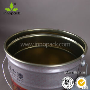 Chemical Use Metal Tin Bucket with Spout Lid pictures & photos