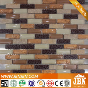 Balcony Wall Marfil Marble and Convex Glass Mosaic (M858016) pictures & photos