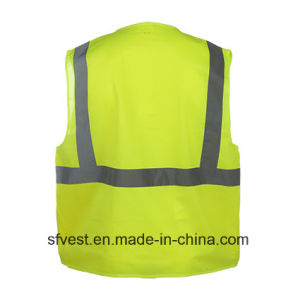 En20471 Standard High Visibility Workwear Safety Vest with Pocket pictures & photos