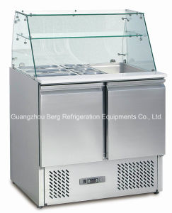 Glass Cover Salad Display Fridge S903 pictures & photos