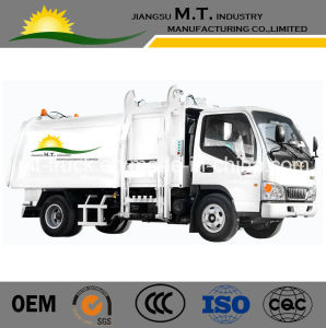 JAC 4X2 6cbm Hydraulic Lifting Garbage Truck Hot Sale for Export Side Loader