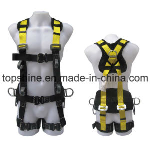 Protective Security Industrial Polyester Adjustable Professional Full-Body Harness Safety Belt pictures & photos