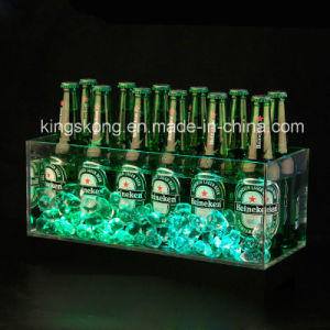 High Clear Square LED Lighted Acrylic Ice Bucket pictures & photos