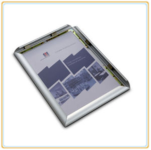 Silver Anodized Aluminum Extrusion Customized Snap Frame pictures & photos