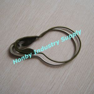 Extra Large 5′′ Plated Steel Pear Shape Safety Lock Curtain Hook Pin (P160726B) pictures & photos