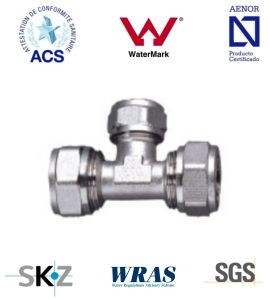 Compression Fitting - Brass Fitting - Plumbing Fitting (Equal Tee) pictures & photos