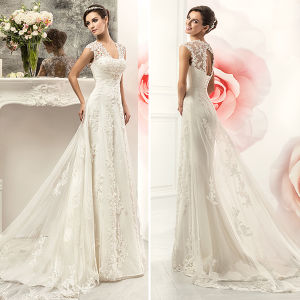 Elegant Lace Tulle with Long Jacket Wedding Dresses (TM-AL073)