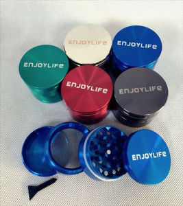 Enjoylife Herb Grinder for Vaporizer, 50mm 4 Parts Metal Weed Grinder for Glass Smoking Pipe pictures & photos