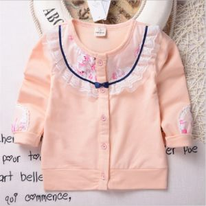 T11912 2015 Kids Cardigan Lovely Baby Girls Flower Clothes Knitting Children Toddler Cardigan Child Clothing for Wholesale pictures & photos