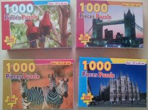 Big Cmyk Printed Papercard Puzzle Jigsaws Set pictures & photos