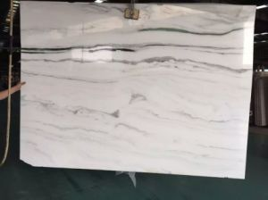 First-Class Black Wave White Marble Cut-to-Size for Floor Step/Stair Wall