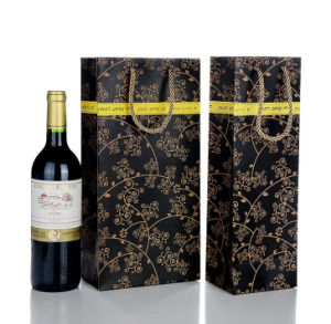 Coated Paper Printing Bags for Wine pictures & photos