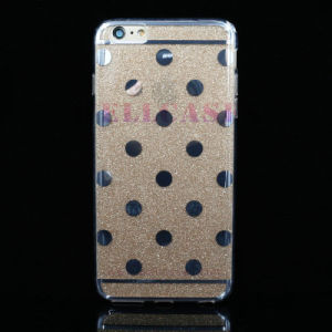 IMD 3D Painting DOT Phone Case for iPhone/5/6/6p with Gliter Powder