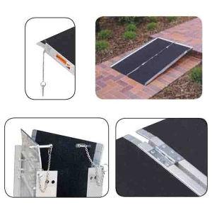 High Quality Aluminum Antiskid Convenient Wheelchair Ramp pictures & photos