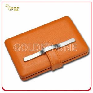 Promotional Genuine Leather and Metal Cigarette Holder pictures & photos