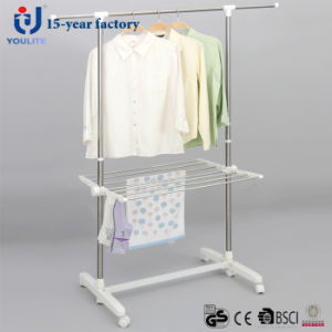 Stainless Steel Single Pole Telscopic Garment Hanger with Racks pictures & photos