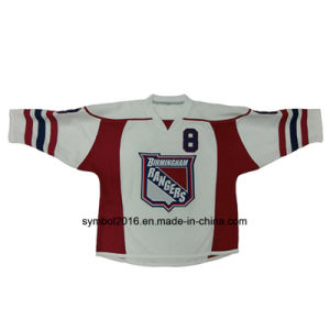 Ice Hockey Jersey with Crest/Patch and Twill Number