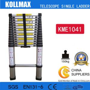 Magic Aluminum Telescopic Single Ladder with En131 CE GS Kme1041 pictures & photos