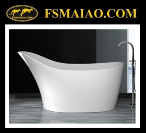 Unique Design Special Shape Solid Surface Freestanding Bathtub (BS-8605) pictures & photos