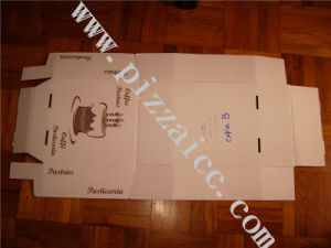 Locking Corners Pizza Box for Stability and Durability (PCB005) pictures & photos