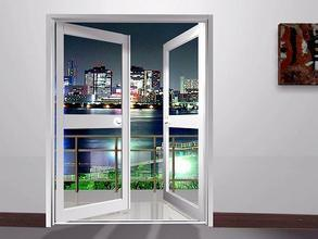 Interior Two Panels Aluminum Casement Door Bedroom Door Drawings pictures & photos