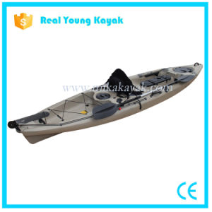 Professional Fishing Kayak Sit on Top Sea Canoe with Rudder pictures & photos