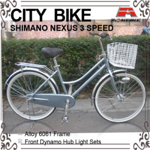 26 Inch Alloy Frame 3 Speed City Bicycle for Lady( pictures & photos