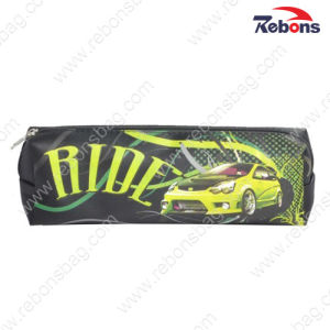 Satin Car Printing Zipper Children School Pencil Bags for Boys pictures & photos