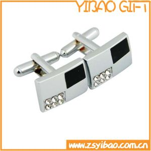 Silver Plated Metal Cufflink for Business Gifts (YB-r-017) pictures & photos
