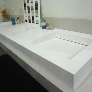Wholesale White Quartz Artificial Sparkle Stone Kitchen Countertop pictures & photos