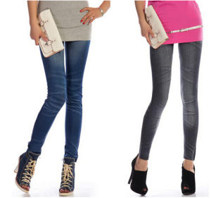 OEM Spandex Jeans Leggings (SR8210-1) pictures & photos