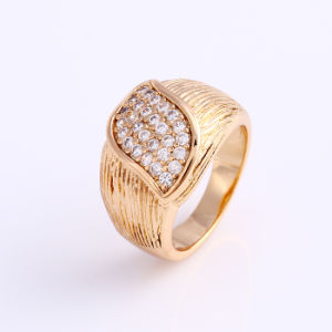 Fashion 18k Gold CZ Jewelry Finger Ring in Alloy for Women -12001 pictures & photos